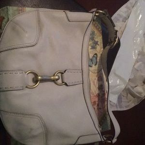 Coach half moon shaped handbag